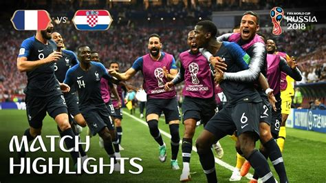 France Croatia Fifa World Cup Final Highlights
