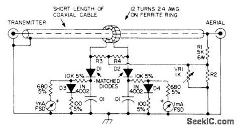 swr meter measuring and test circuit circuit diagram seekic