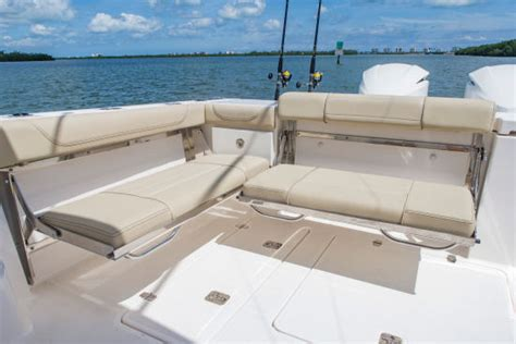 Boat Aft Bench Seat by Pursuit Os 355 Offshore 2016 Pursuit Boats Powered