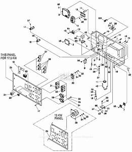 Generac 057340  Gp15000e  Parts Diagram For Control Panel