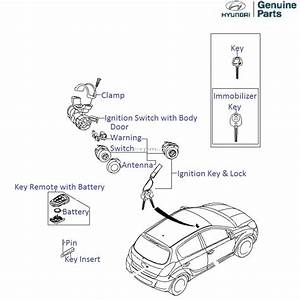 Hyundai I20  Ignition Key  U0026 Lock