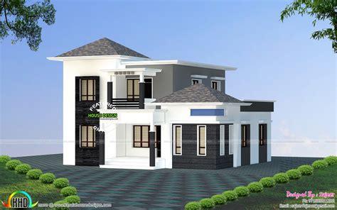 9 Feet Front Home Design : 1600 Square Feet Budget Home Design