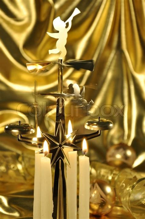 scandinavian party chimes swedish scandinavian style chimes on a golden drape background with golden