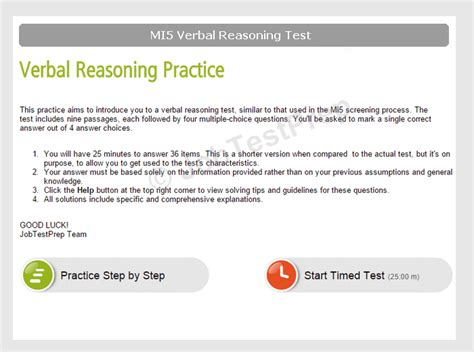 mi verbal reasoning test practice  score reports
