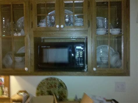 Handmade China Cabinet With Microwave Shelf by Rats Wood