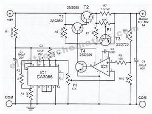 Milozjam  Regulated Power Supply Schematic Diagram