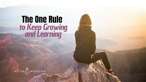 rule   growing  learning jacob morgan