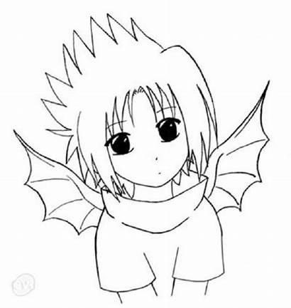 Naruto Chibi Coloring Anime Pages Drawing Drawings
