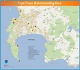 Cape Town Map - TravelsFinders.Com