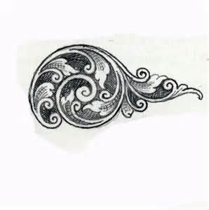 Gun Scroll Engraving Patterns