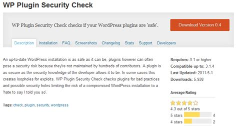 Security Check Wordpress Plugin, Security Check Plugin For