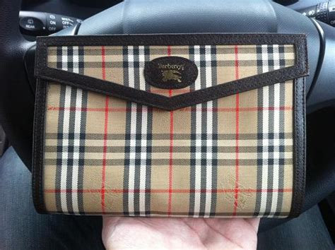vintage burberry london vintage small clutch bag