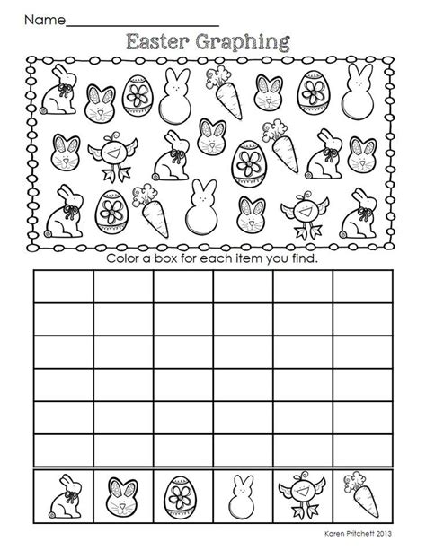 easter graphing crafts and worksheets for preschool
