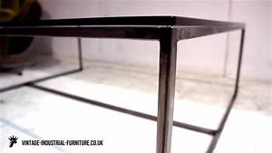 vintage industrial glass top coffee table With industrial glass top coffee table