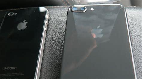 Iphone 8 Plus Space Gray Unboxing (iphone 4s Vs 8 Plus Vs