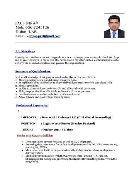 Logistics Coordinator Resume by Logistics Coordinator Resume