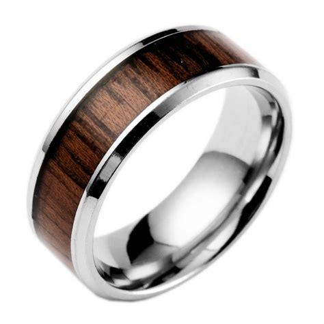2018 popular wood grain s wedding bands