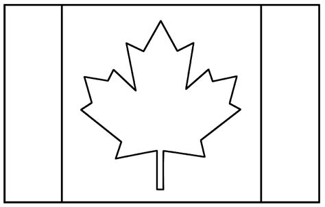flag canada flags coloring pages  kids  print color