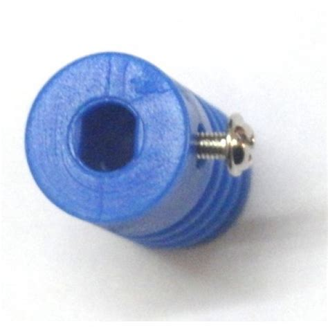 plastic worm gear  reducer mm  shape shaft coupling blue