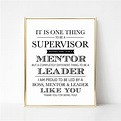 Digital Supervisor Quote Gift I Version Best Boss Quote | Etsy