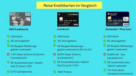 kostenlose reise kreditkarten im vergleich