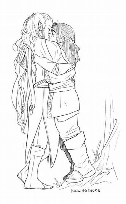 Hobbit Tauriel Kili Legolas Tolkien Kiliel Kiss