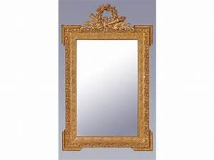 Miroir Doré Rectangulaire : miroir rectangulaire en bois dor et stucqu ~ Teatrodelosmanantiales.com Idées de Décoration