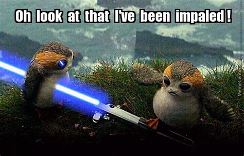 Porg Memes - impaled little porg by potterheadjocelyn meme center