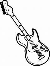 Coloring Guitar Printable Mycoloring sketch template