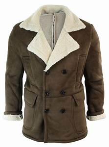 Fausse Peau De Mouton : manteau chaud 3 4 fourrure fausse peau de mouton int rieur lain vintage homme ebay ~ Teatrodelosmanantiales.com Idées de Décoration