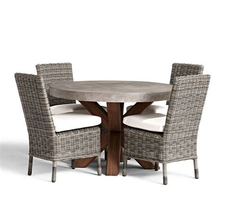 pottery barn kirkwood dining table abbott round dining table huntington chair set pottery