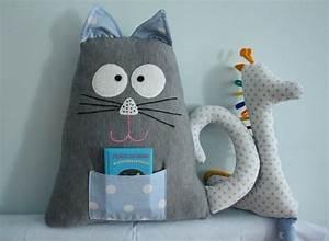 Kissen Nähen Ideen : kissen maskottchen katze aus der tasche von karmelki by ania auf kissen kids ~ Markanthonyermac.com Haus und Dekorationen