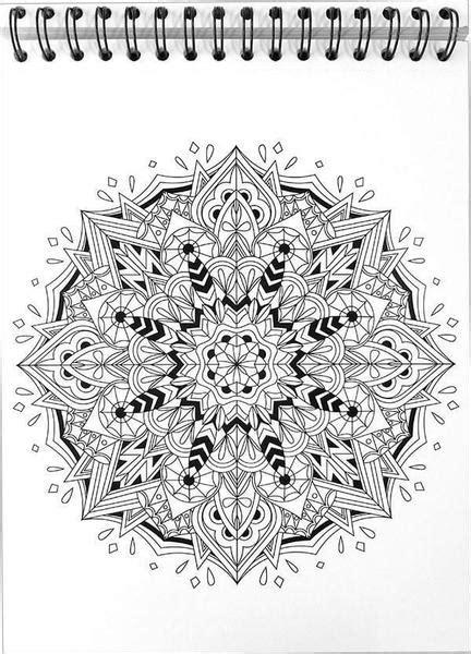 mandala coloring book  hardback covers spiral