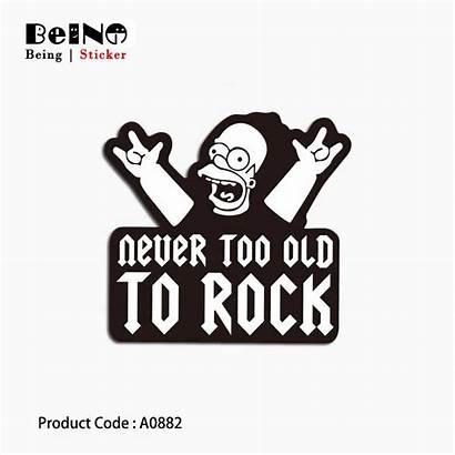 Stickers Cool Attitude Simpsons Guitar Sticker Cartoon