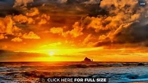Beautiful Clouds at Sunset HD wallpaper