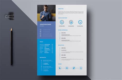 Cv Template Design by 65 Eye Catching Cv Templates For Ms Word Free To