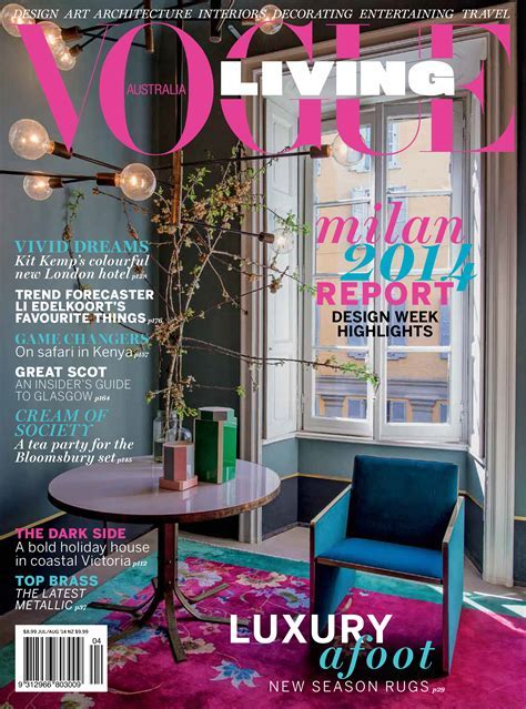 Vogue Living Cover Australia July August 2014   Interiors