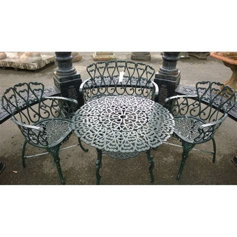 Cast Iron Patio Furniture by Cast Iron Garden Furniture Patio Set Swanky Interiors