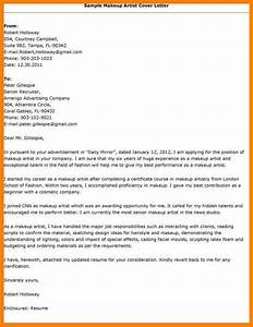 makeup artist cover letter sample cover letter templates With build up letters