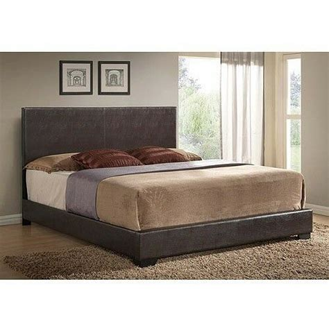 Leather Headboard Bed Frame by Upholstered Bed Frame W Headboard Footboard Leather