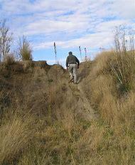 Man Climbing Hill