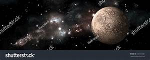 Artists Depiction Heavily Cratered Moon Alone Stock Photo ...
