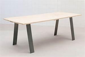 Pied De Table Basse Metal Industriel : gato fabricant de pieds de table et plateau en bois design ~ Teatrodelosmanantiales.com Idées de Décoration
