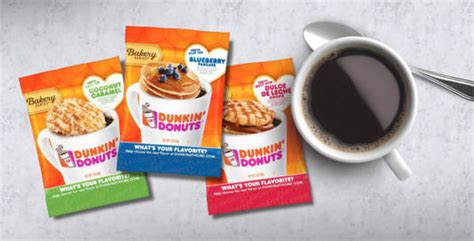 Free Dunkin' Donuts Bakery Series Coffee Sample Pack