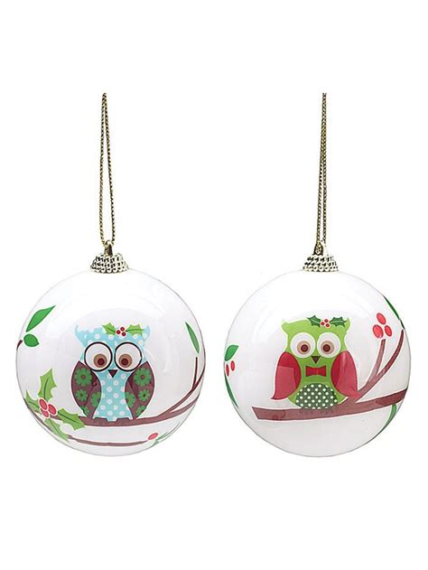one holiday owl foam ornament 9720125 ships assorted