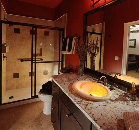 fresh  small orange bathroom decor ideas