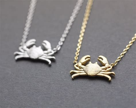crab colors crab maryland crab pendant necklace in 3 colors n0740k