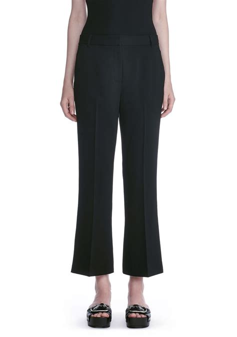 drape trousers wang drape poly twill front pleat cropped