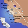 California Map Santa Barbara - HolidayMapQ.com