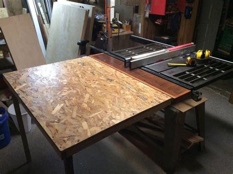 basic folding outfeed table  ianthetinker